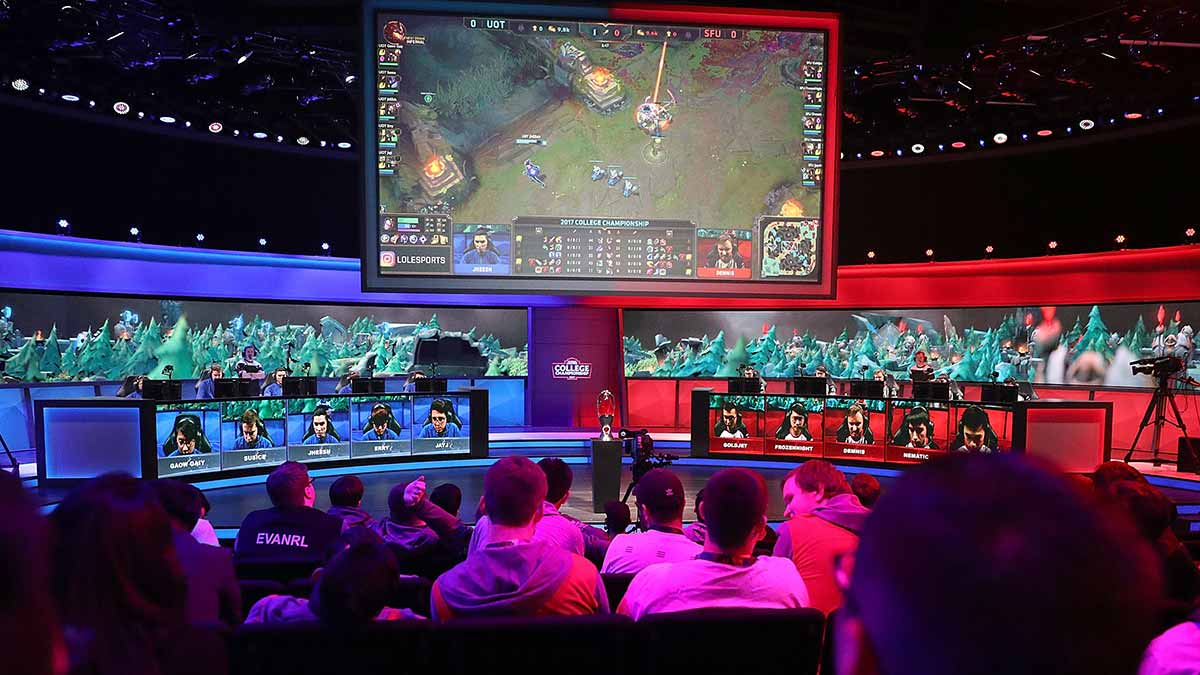 Gaming fans watch an eSports tournament in the US earlier this year.