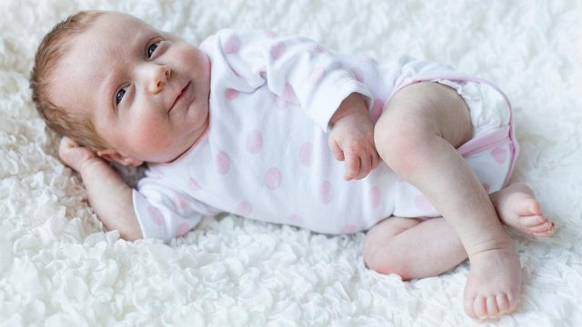 Happiness ... babies might soon get electronic wetness sensors in their nappies. Picture: Getty