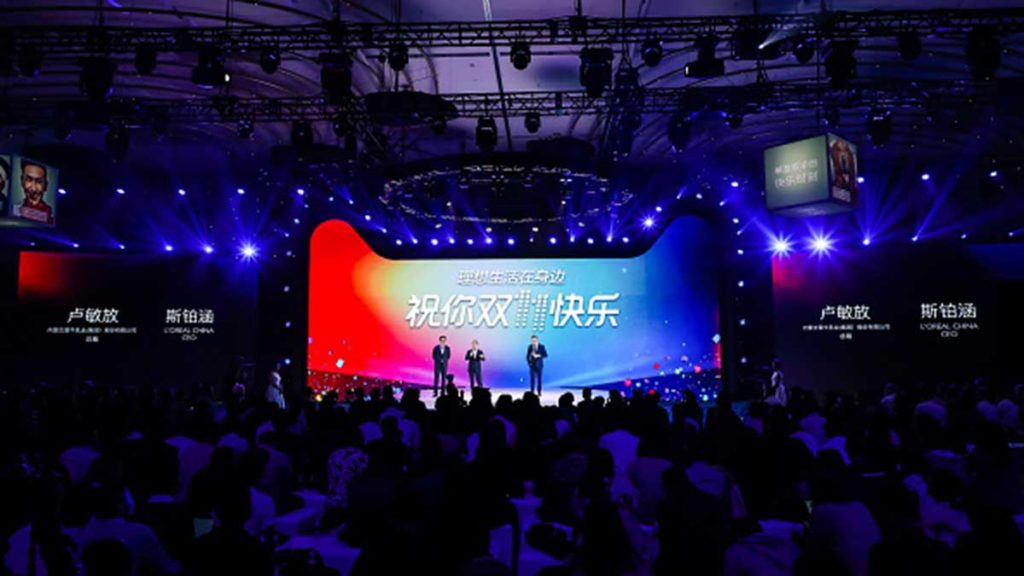The 2017 launch of Singles Day in China. Picture: Getty.