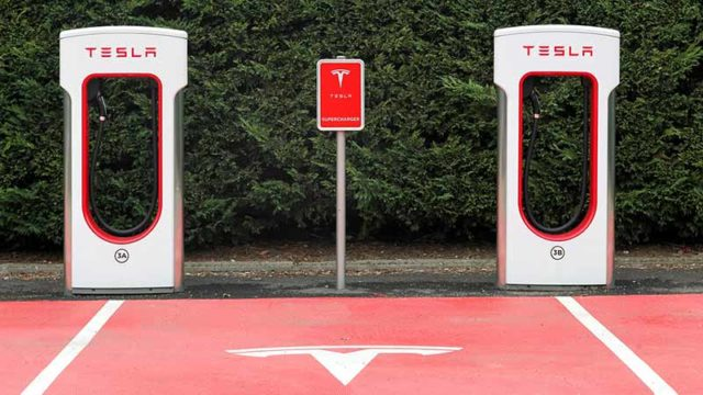 Oliver's is rolling out Tesla electric car charging stations. Pic: Getty