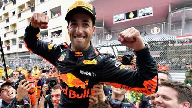 Aussie Dan Ricciardo wins the Monaco Grand Prix on Sunday. Pic: Getty