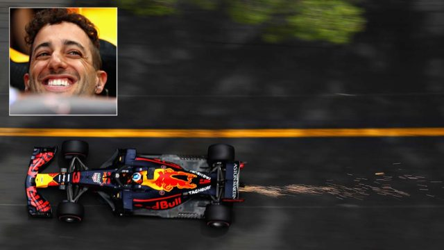 Aussie Daniel Ricciardo set track records in Friday practice sessions at the Monaco Grand Prix. Pic: Getty