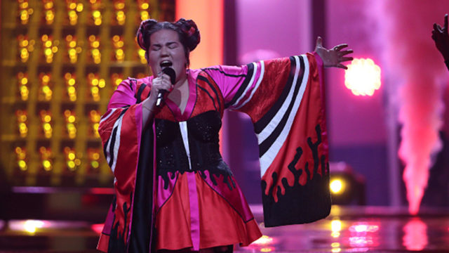 Singer Netta representing Israel wins the Eurovision Song Contest 2018 in Lisbon, Portugal.