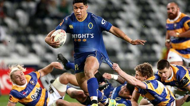 Josh Ioane of Otago leaves everyone in his wake in a Mitre 10 Cup in Dunedin this week. Pic: Getty