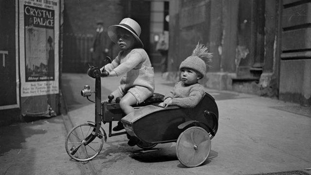 Kids on bike, Getty